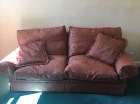 Terrecotta patterned two seat sofa