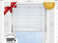 Brand New (still in box) Premier White Venetian Wooden Blinds