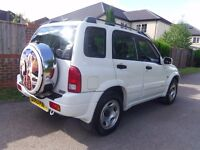 2003 SUZUKI GRAND VITARA LWB 5 DOOR WHITE 4x4 ONLY 61,000 MILES FSH