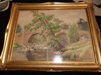 walter dyke carter water colour wensum bridge 1930