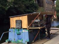 Run your own floating cafe - sell Monmouth coffee and live on a boat