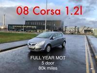 £1575 2008 Corsa 1.2l* like clio fiesta micra yaris i20 focus astra polo golf 207 107