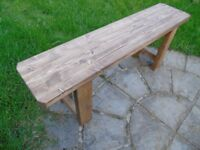 Rustic Handmade Wooden Bench- Many Colours. Unique Design