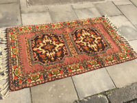 Moroccan Rug , with thick pile . In good condition. Size L 63in x 36in