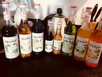 Monin Syrups 8 different flavours