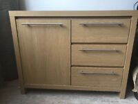 Next oak wood sideboard with storage and drawers