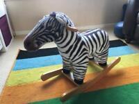 Zebra rocking horse
