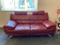 2 Original leather sofas