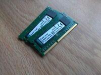 Kingston DDR3L Laptop Memory 4gb (2x2 Dual-channel) 1600mhz