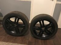 GENUINE 17 INCH 5 STUD ALLOY WHEELS & WITH BRAND NEW PIRELLI TYRES 215/45/R17