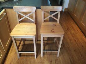 Ikea wooden kitchen stools