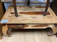 small indian hardwood coffee table