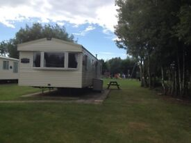 FOR SALE STATIC CARAVAN 2014 ABI HORIZON at HAVEN HAGGERSTON CASTLE HOLIDAY PARK NORTHUMBERLAND