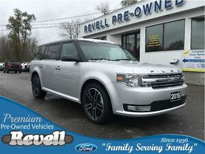 2015 Ford Flex SEL AWD...1-owner trade, Moonroof, Leather, Nav,