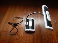 Wireless/rechargeable touch lamp