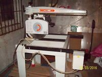 Maggi radial arm saw £1,250 3 phase over £3K new.