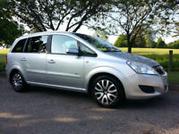 VAUXHALL ZAFIRA 08 L.P.G. CONVERTED. 11 MONTHS M.O.T. Half your petrol costs!