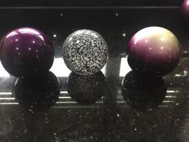 Purple decoration balls
