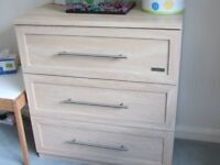 COT into BED and Chest of Drawers
