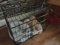 Puppy crate and bed