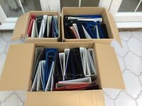 A4 Lever-arch Folders (2 & 4 Ring) - Various Widths - Approx 50 off