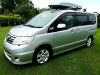 2008 Nissan Serena Highway Star Camper Van 2.0 automatic.