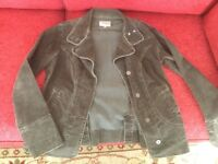 A ladies casual light weight corduroy jacket colour brown by Per Una size 12