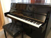 Kawai K-15 Upright Piano Black Gloss With Storage Stool