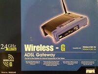 Linksys Cisco 2.4GHz 4-Port Wireless ADSL Gateway WAG54G - under offer