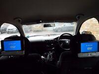 """Logik portable in car DVD player 7"""" dual screen"""