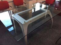 Uffix Pininfarina executive Italian designer glass meeting table