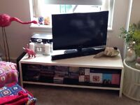 White retro look TV stand/unit with lots of storage