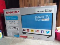 New Sharp Aquas 49 inch Smart internet television with built in wi fi.