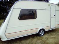 Fleetwood garland 2 berth caravan 1994 very original caravan no damp full awning