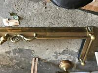 Brass hearth trim and accessories