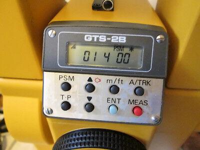 Topcon Gts-2b Theodolite Semi Total Station Src-5 Case Accessories