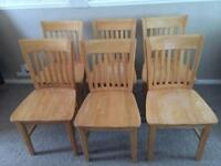 Set of 6 wooden dining chairs project