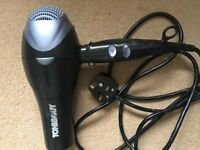 Toni and Guy Hairdryer - Ionic drying 1600 - Black and grey - three heat settings 2 power settings