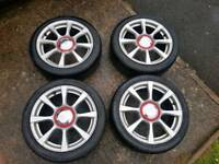 4x98 abarth 500 alloys