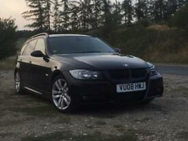 BMW 330d m sport sapphire black.