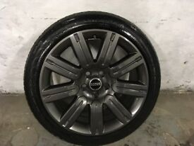 ALLOYS X 4 OF 20 INCH GENUINE RANGEROVER OR DISCOVERY FULLY POWDERCOATED IN A STUNNING ANTHRACITE
