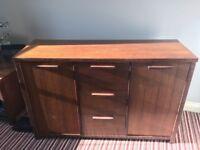 Mahogany veneered sideboard and Lamp table