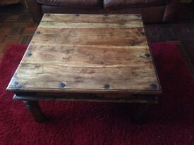 Indian, Sheesham wood coffee table