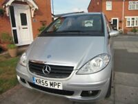 MERCEDES A 170 ELEGANCE SE AUTO CVT 5 DOOR 2005 ONLY 42000 MILES FROM NEW.