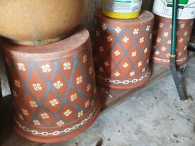 Large terracotta pots