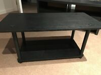 Lovely black wooden coffee table