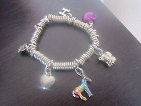 GENUINE LINKS OF LONDON SWEETIE BRACELET WITH CHARMS