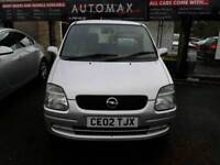 02 VAUXHALL AGILA 1.2 5DR ( SMALL MPV) ONLY 59K IN SILVER