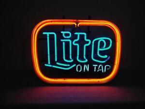 Vintage Neon Miller Lite Sign