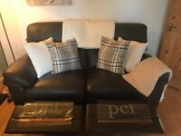Leather recliner sofas, 2 and 3 seater, excellent condition